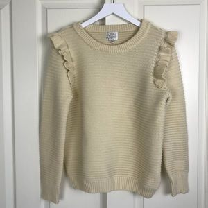 ASOS Willow & Paige Chunky Ruffle Shoulder Sweater